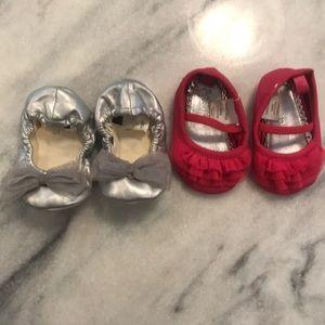 💕GAP Baby Ballet Flats 0-3 Months